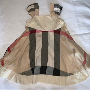 Burberry dress toddler girls Large fits 2T
